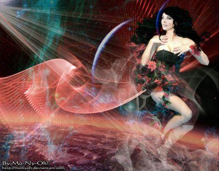 Sarah in space by MoNyOh