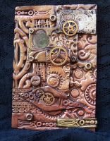 Polymer Clay Steampunk ACEO by ValerianaSolaris