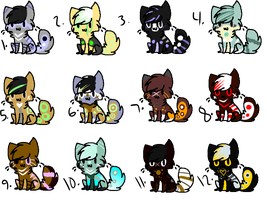 Cat Adopts Batch 5 by campfyre