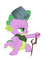 Spike with a Stone. by TheBronyCorner