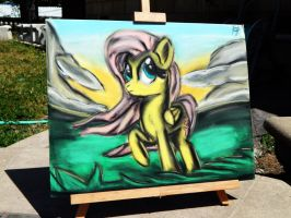 Fluttershy Pastel Painting by OstiChristian