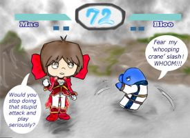 Foster's _DOA_Mac_VS_Bloo by Evil-Weevil