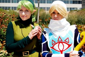 Sheik and Saria by KHalfkey