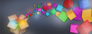 Colorful cubes header by Olgut