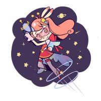 Space Ranger Bunny by ParfyWarfy
