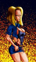 ANDROID 18 FIRE by B9TRIBECA