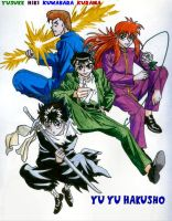 Yu Yu Hakusho Group Color by jump-club