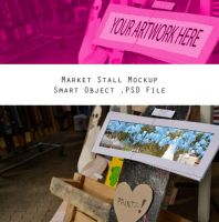 Market Stall Mockup 1  - Editable .PSD Download by Putri-984