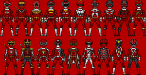 Red Ranger Line by Shepard137