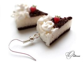"Earrings ""Strawberry Cake"" 2 by OrionaJewelry"