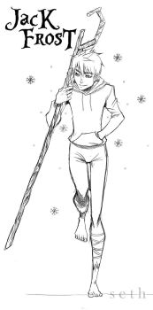 Jack Frost from Rise of the Guardians by SethKuroiHuke