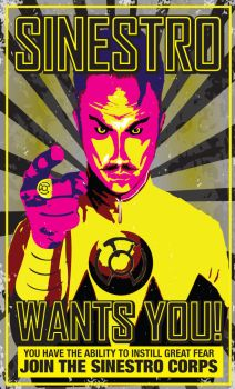 Sinestro Corps Poster by Heartattackjack