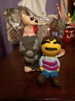 Clay Lesser Dog and Frisk by Bouncerr