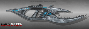 Cold Steel Defiance Alien weapon by CzechBiohazard