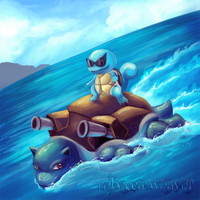Squirtle Used Surf by RebeccaWeaver