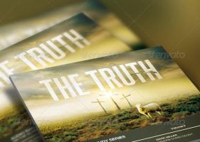 The Truth Church Flyer and CD Template by loswl
