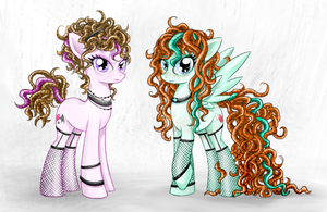 Coquette sisters by MunaDrake