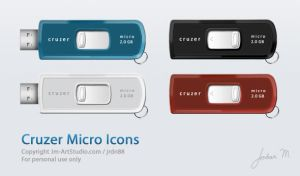 Cruzer USB Drive Icons by jrdnG