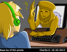 PewDie and Stephano by SonikkuChick