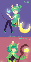 CQ - Green rock witch girls by NightMargin