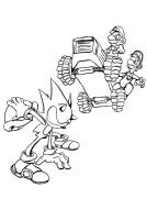 Sonic vs. the Mario bros. by El-Wanker