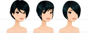 Short Black Hairstyles set by Melisendevector