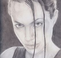 Angelia Jolie Sketch by JonMckenzie