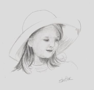 Portrait of a young Girl by kathysgallery