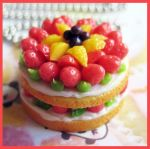 Fruit and Cream Cake Necklace by cherryboop