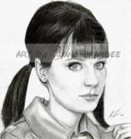 Zooey Deschanel by JunebugHardee