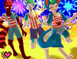 Fourth of July Commission by ladypixelheart