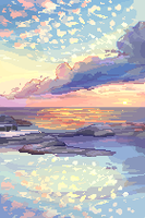 Pixel Scenery by cloudylicious