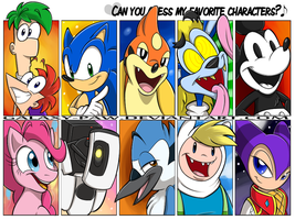 .canyouguess. my FAVORITE CHARACTERS? by faster-by-choice