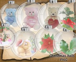 Christmas balls PNG by roula33