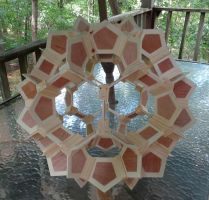 Crown Truncated Icosahedron - 2014 (wood) by albertpcarpenter