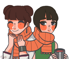 Sharing Lee's scarf by CodeHeaven