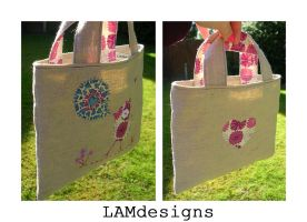 Birdie in Love - Mini Tote by MasonBee