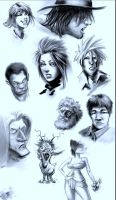 10 speed sketches by TheAstro