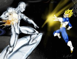 Crossover - Surfer vs Vegeta by sliver64