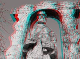 Statue Anaglyph by mrkane27