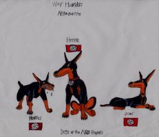 War Hounds characters II: Axis Powers by srebak