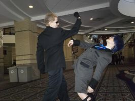 Wesker Knocks Out Ciel Phantomhive by BlueEyesMaster