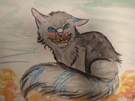 Cheshire cat in water colors and crayons by jitterfly