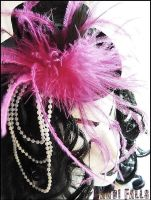 Feathered Mini Top Hat 2 by miss-candi