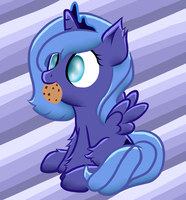 Woona eats a cookie :3 by Cosmic-Nova
