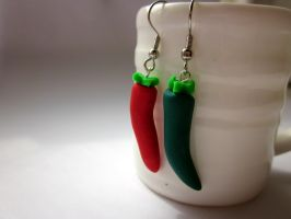 Chilli Pepper Earrings by JewelleryByABC