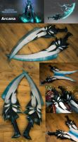 Phantom Assassin Arcana blades by RubeeAmadare