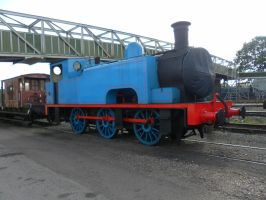 Thomas tank engine covered face by WhippetWild