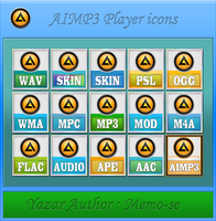 Simge 1 AIMP3 Player icons by memo-se