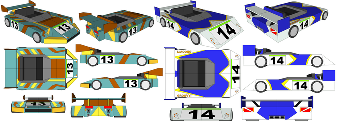 SketchUp - Abe's Car and Earthworm Jim's Car by TeamFaustGames